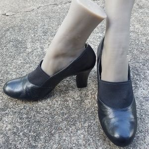 Low-Heeled Black Leather Naturalizer Shoes
